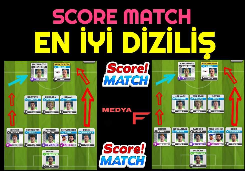 Score Match En İyi Diziliş