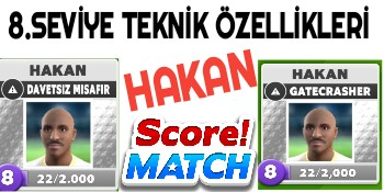 Score Match Hakan 8 Seviye
