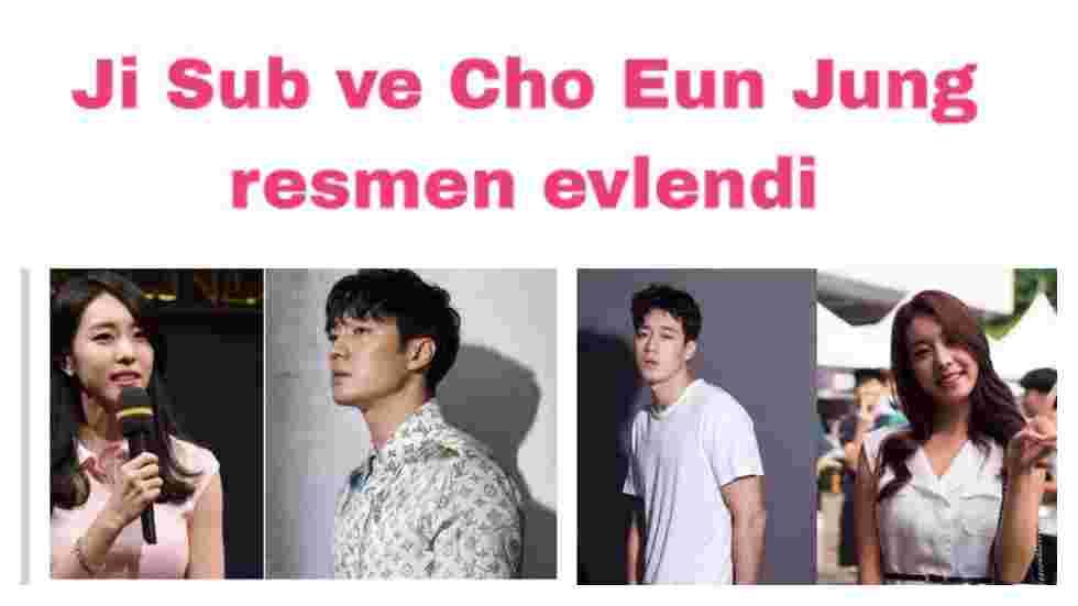 Ji Sub ve Cho Eun Jung resmen evlendi