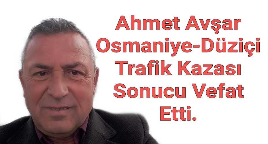 Ahmet Avşar Osmaniye