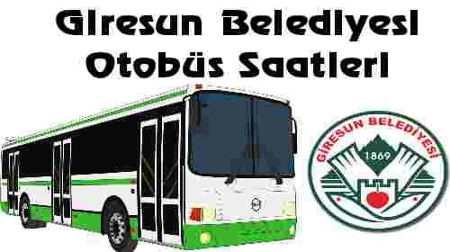 Giresun Belediyesi Otobüs Saatleri