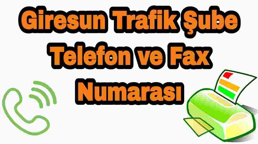 Giresun Trafik Şube Telefon ve Fax Numarası