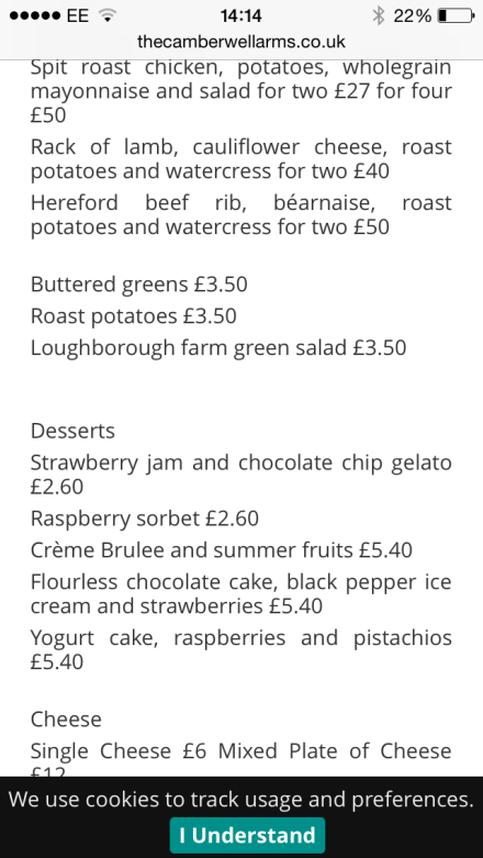 loughborough farm menu
