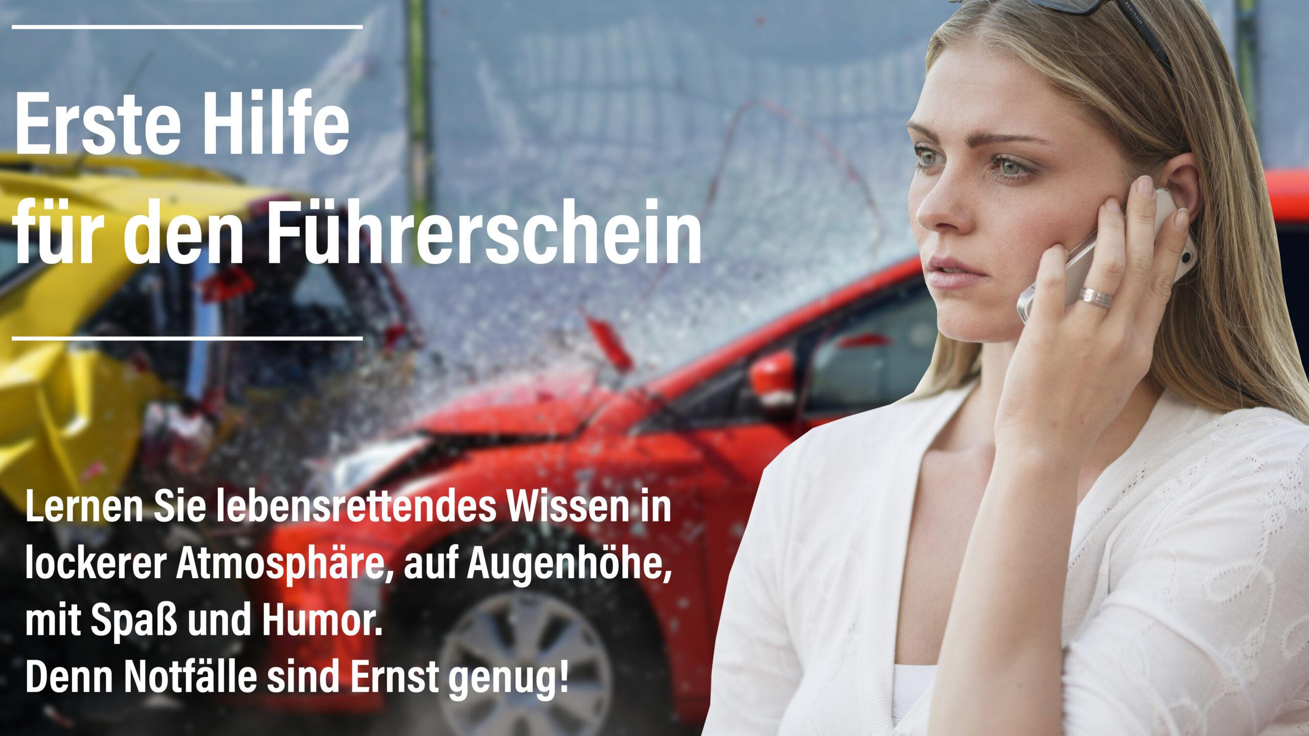Der Erste-Hilfe-Kurs ist Vorraussetzung für den Erwerb des Führerscheins. Egal, ob du mit dem Auto oder dem Motorrad unterwegs bist: bei einem Unfall kommt es auf deine Hilfe an.