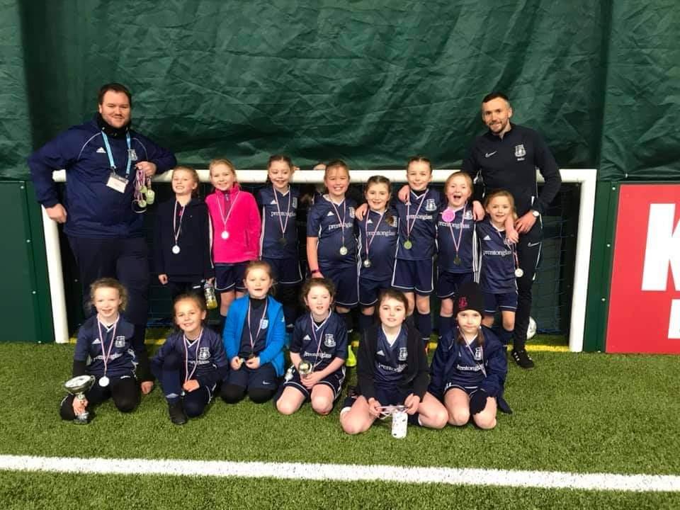 Glenavon Belles U8s tournament champions  🏆❤️
