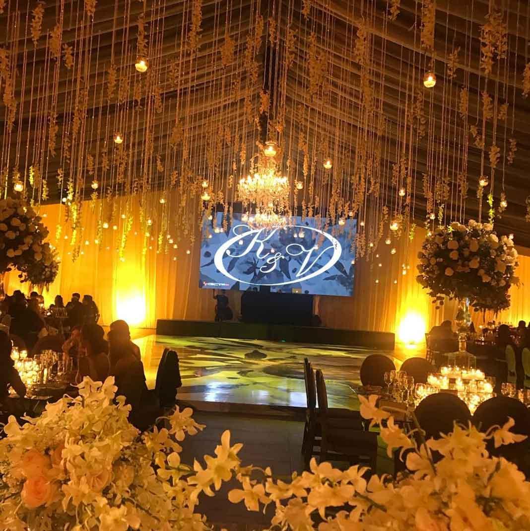 Un vistazo del salón donde fue la fiesta de bodas