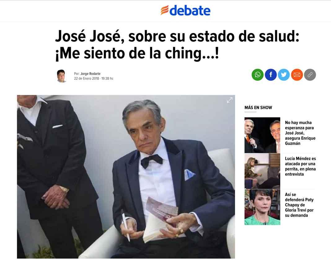 Este es titular de la nota publicada por el diario El Debate