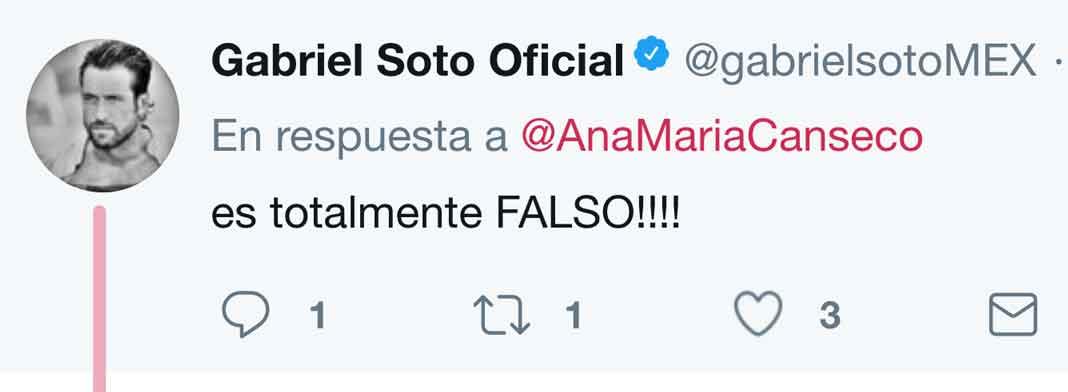 Gabriel Soto me respondió directamente a mi Twitter