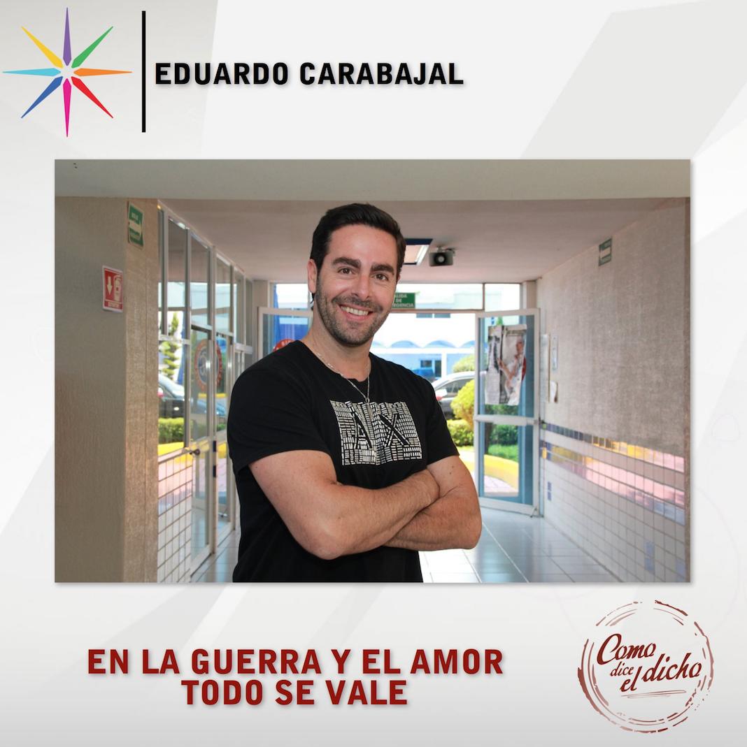 """Imagen de Eduardo promocionando """"Lo que dice el dicho"""", donde participó"""