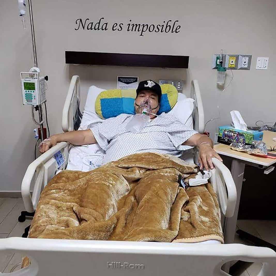 Julio Preciado quiso compartir este imagen para avisar a sus fans de su estado de salud