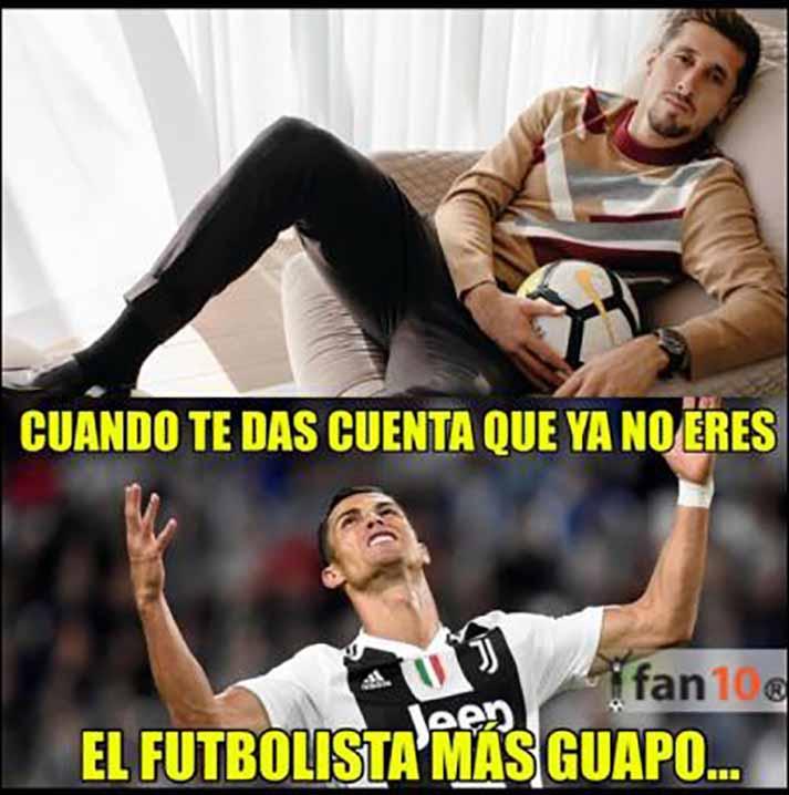 Que Cristiano Ronaldo está enojado porque ya no es el más guapo