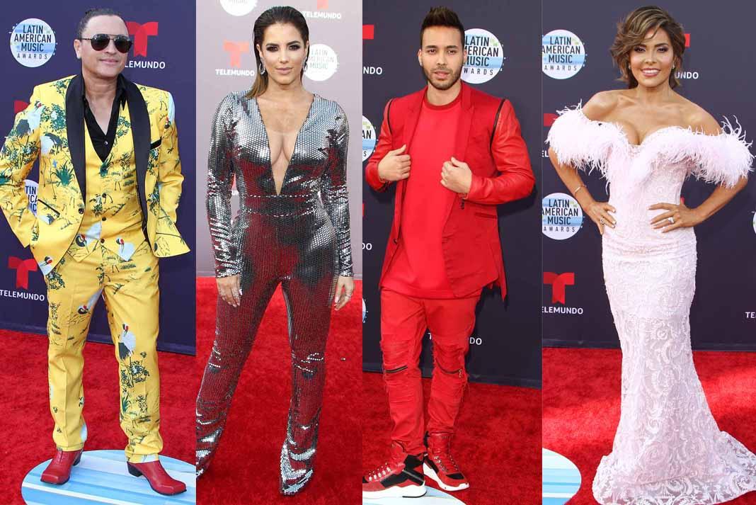 En esta edición de los Latin American Music Awards hubo un tutti frutti de colores y estilos