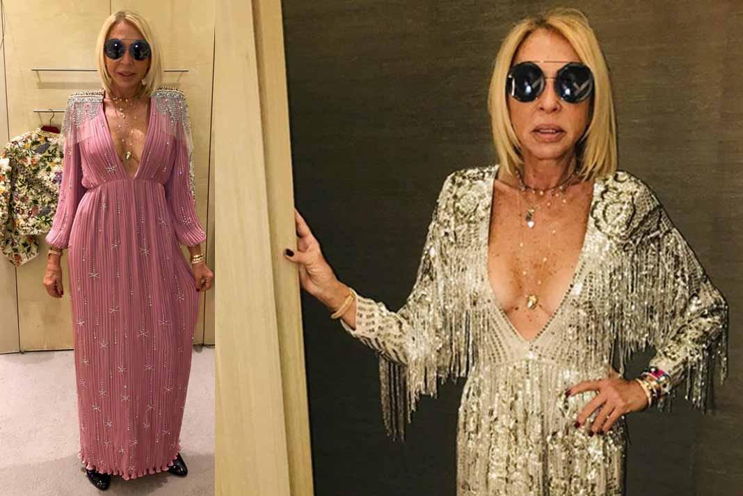 Laura Bozzo se dio el gusto de modelar diseños de Gucci