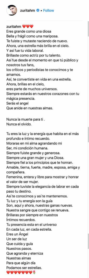Este es el poema que Humberto Zurita dedicó a su amada Christian Bach