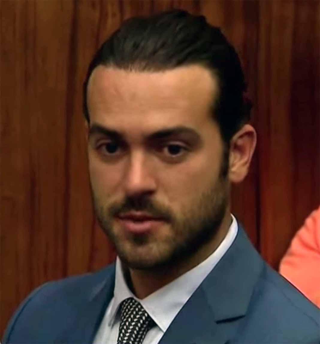 Algunos presentes en la Corte de Miami dijeron Pablo no mostraba ninguna expresión