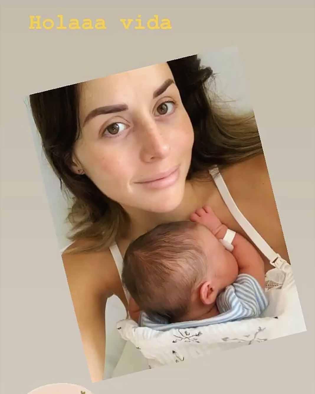 Zuria Vega así presentó el fotografía a su precioso bebito