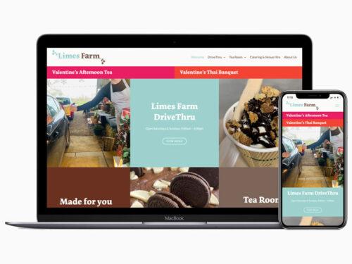 limes farm farthinghoe responsive website