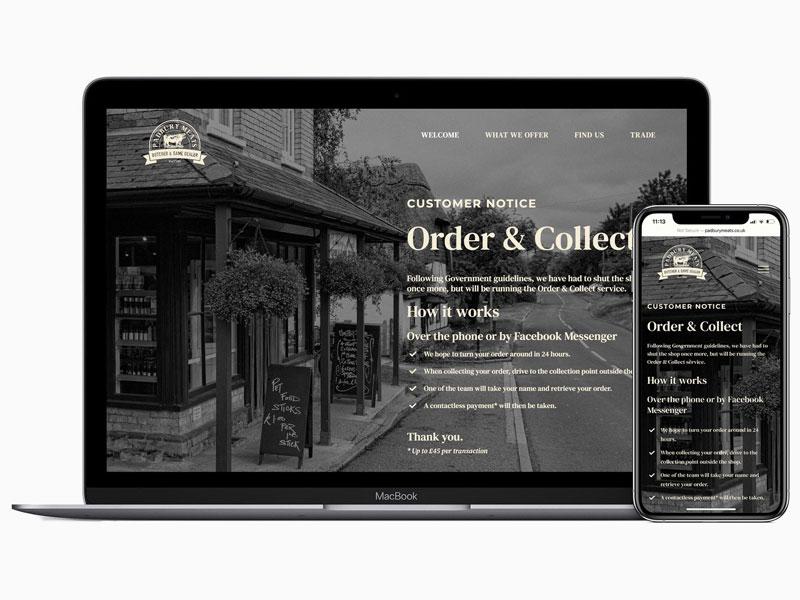 Graphic designer, Aylesbury – wordpress website for padbury meats