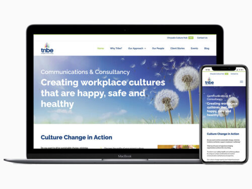 tribe culture change responsive website