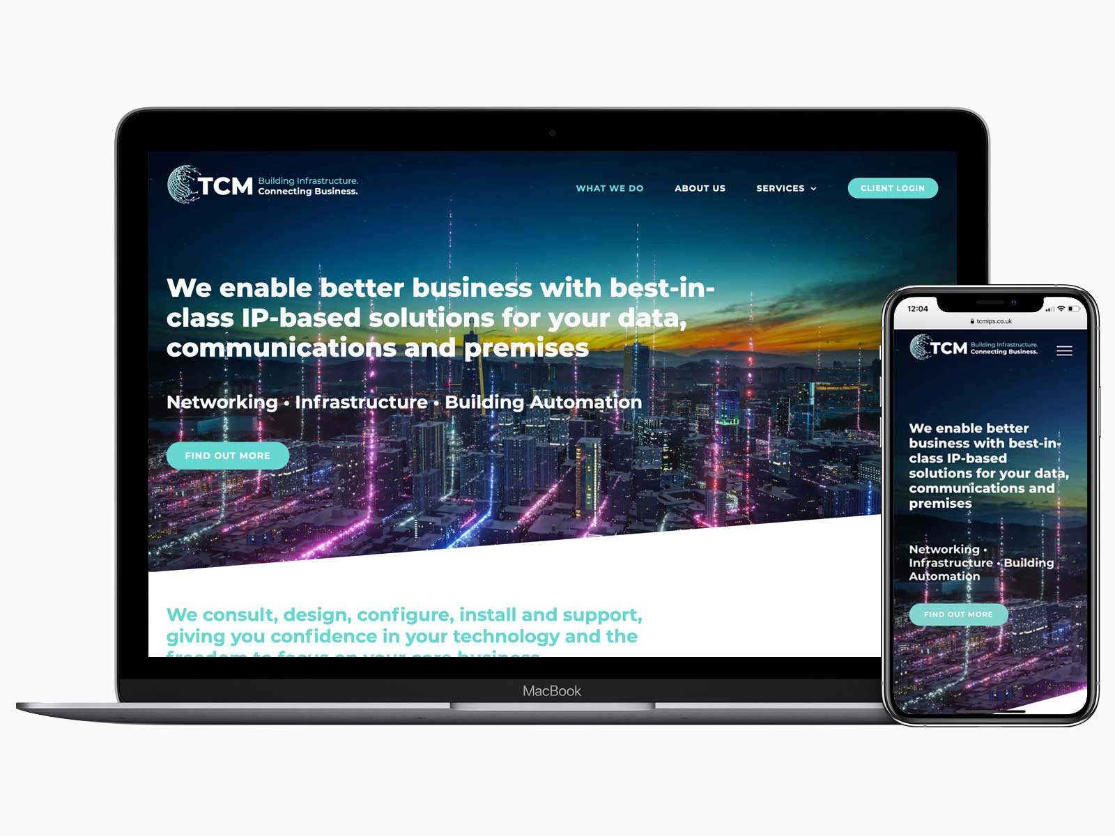 Graphic designer, Aylesbury – wordpress website for TCM IP Services