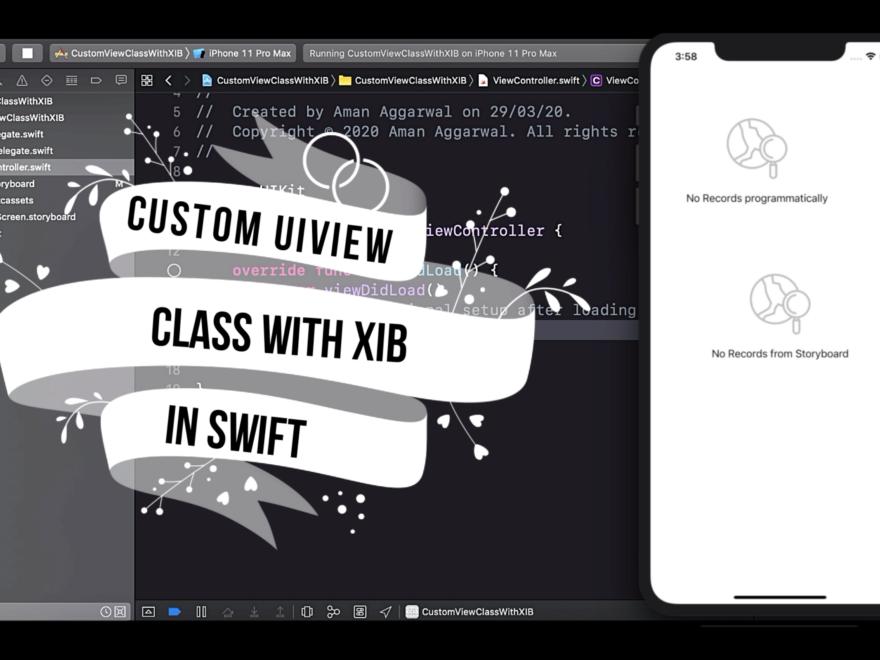 Create custom UIView class with xib in swift