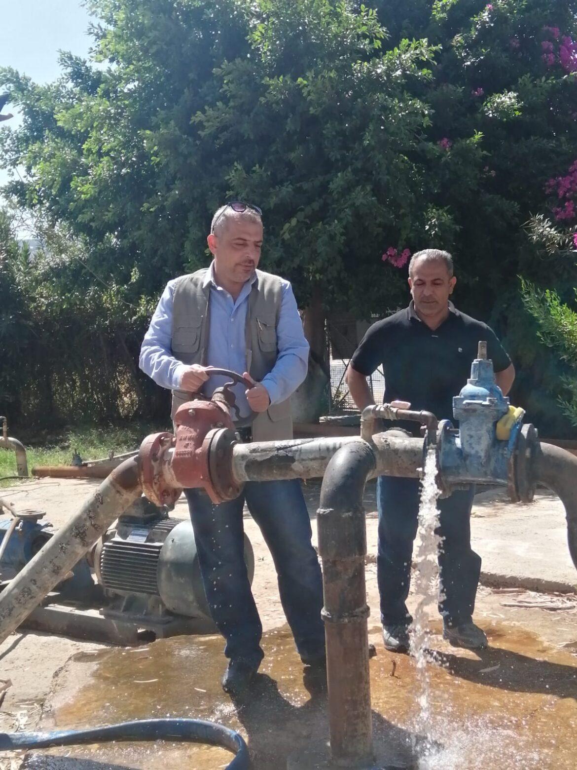 امين عام سلطة المياه يدشن بئر الصبيحي وبئر دير علا لتعزيز التزويد المائي في مناطق محافظة البلقاء