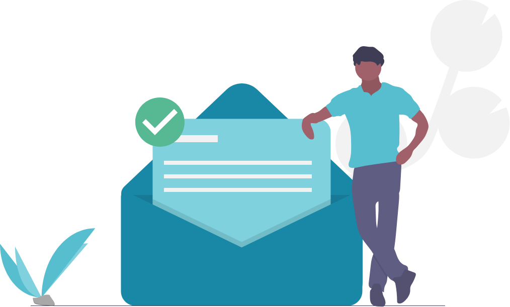 guy beside a big mail image