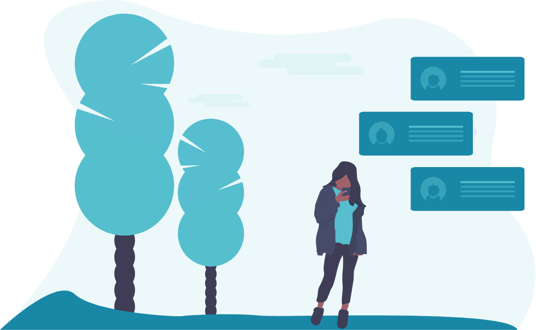 girl texting image