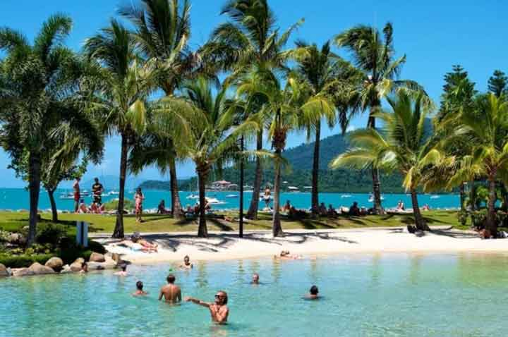 Airlie Beach Swimming Lagoon In Queensland