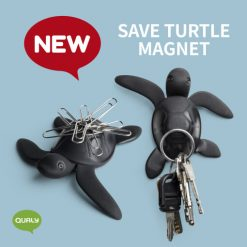 Save turtle magnet made from recycled plastic