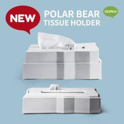 Polar bear tissue holder paper box