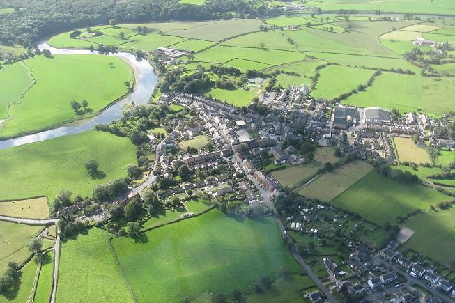 Aerial view of Ribchester