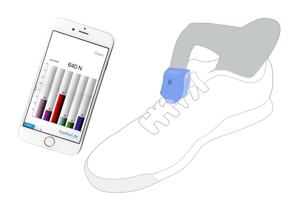 loadsol® Force under the foot - plantar normal force inside footwear   novel.de