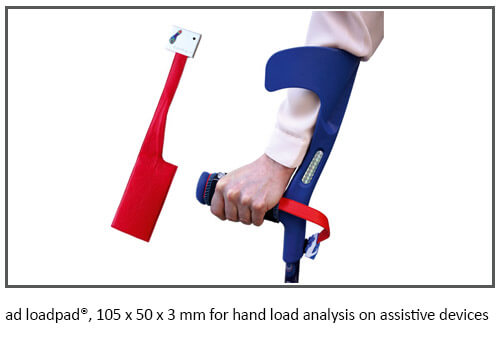 ad loadpad®, 105 x 50 x 3 mm for hand load analysis on assistive devices | novel.de
