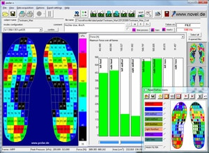 pedar Expert mask - force measurement sensor under foot