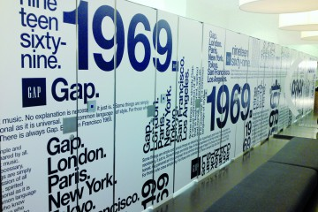 Interior branding for Gap