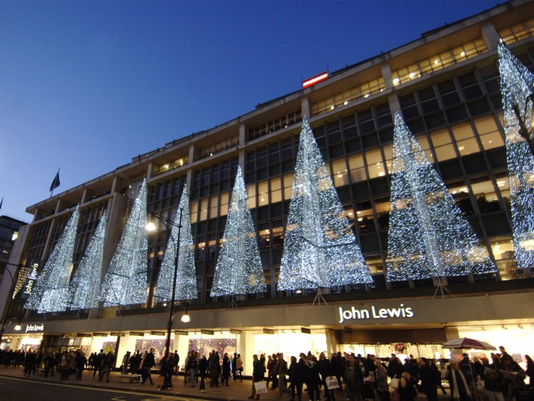 Christmas lights at John Lewis, W1