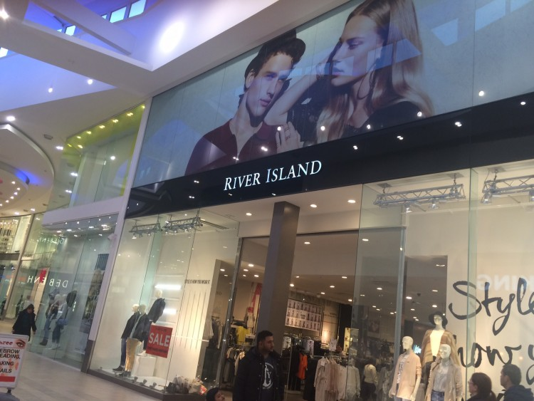 High Rise Window Graphics for River Island