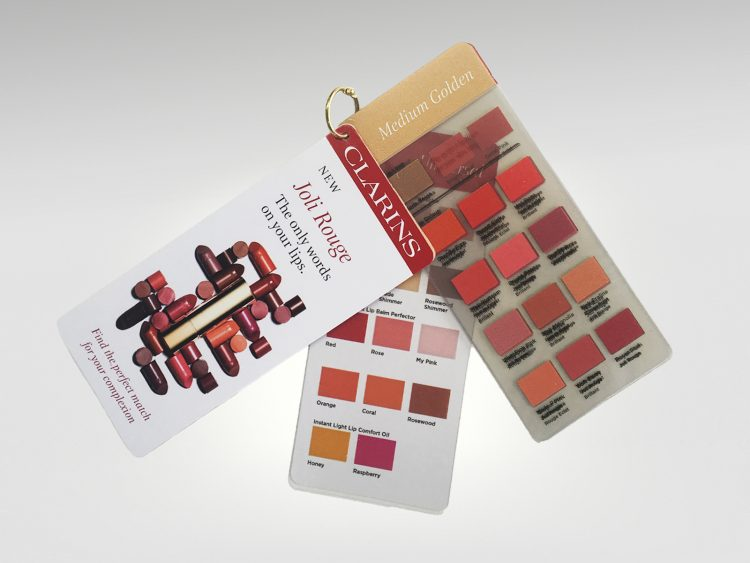 In-store sales tool for matching lip colour