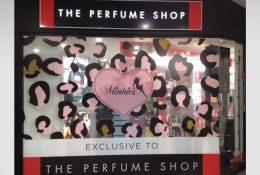Minnies Store Window Graphics - The Perfume Shop