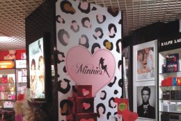 Minnies In-Store Lightbox and Pillar Clad - The Perfume Shop