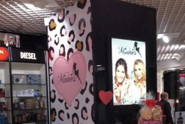 Minnies In-Store Lightbox and Pillar Clad at The Perfume Shop