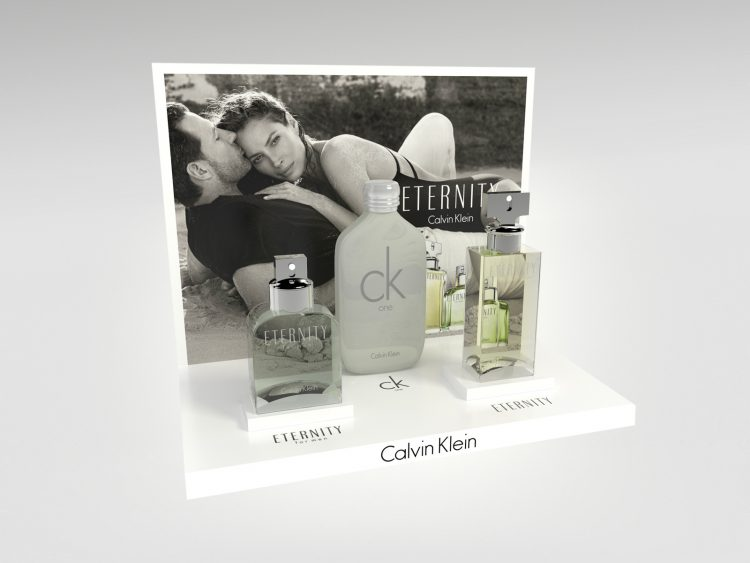 A counter tester unit (CTU) for Calvin Klein Eternity