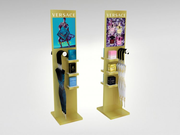 Promotional Floor Display Unit - Versace