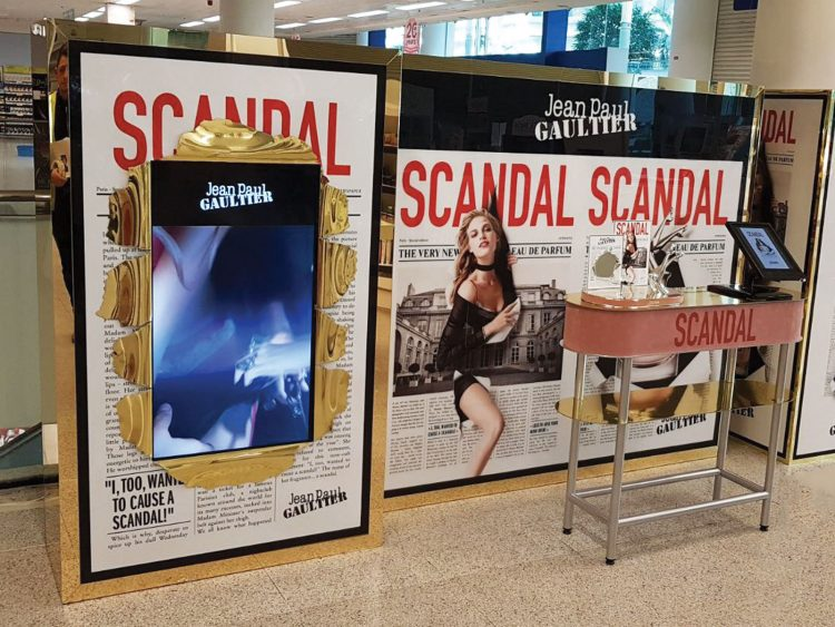 Interactive promotional site for Jean Paul Gaultier Scandal