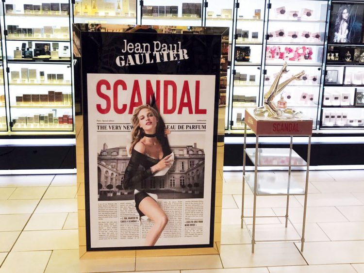 Mini promotional site produced for Jean Paul Gaultier Scandal
