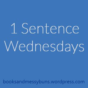 One Sentence Wednesday