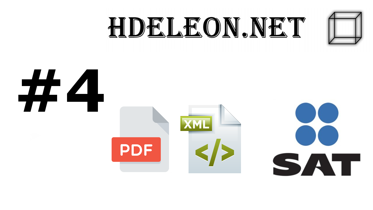 ¿Cómo crear el archivo pdf a partir de un xml timbrado 3.3 C# .Net? | Anexo 20 | SAT #4