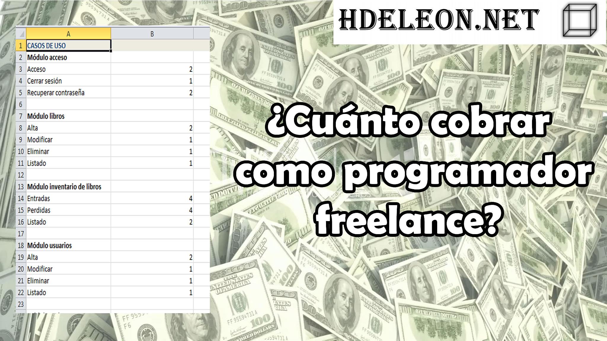 ¿Cuánto cobrar como programador freelance?  Ejemplo paso a paso, cotización freelance