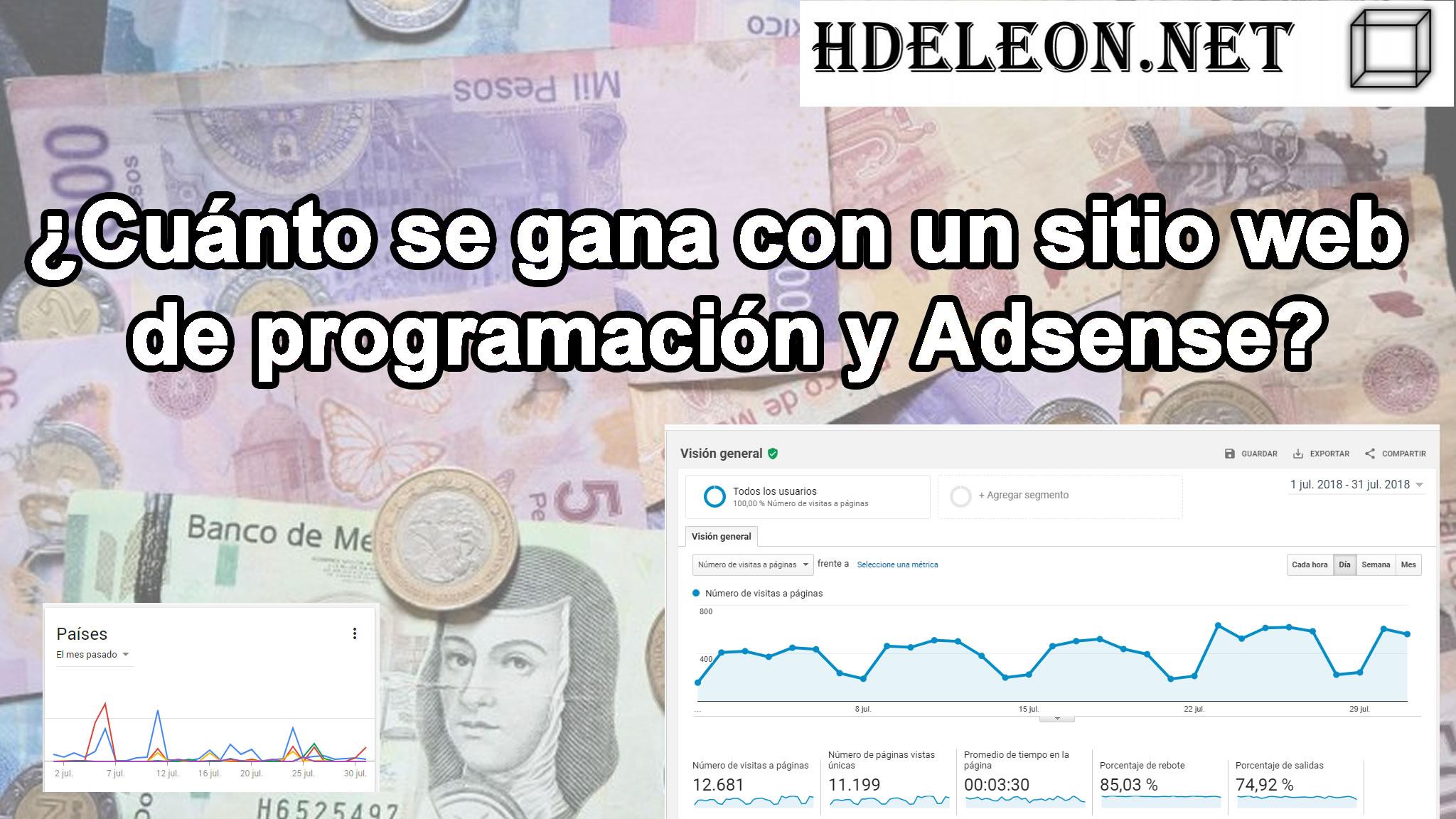 ¿Cuánto se gana con un sitio web de programación y #adsense?, Con pruebas reales, 2018